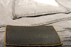 Leather label jeans Royalty Free Stock Images
