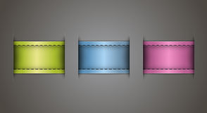 Leather labels Royalty Free Stock Photos