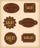 Leather labels Stock Photography