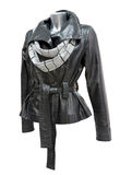 Leather ladies jacket Royalty Free Stock Image