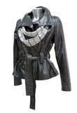 Leather ladies jacket Royalty Free Stock Image