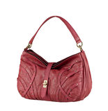 Leather lady handbag Stock Image
