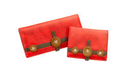 leather lady purses Royalty Free Stock Image