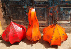 Leather lamps Stock Images