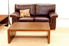Leather living room Royalty Free Stock Image
