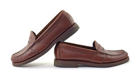 Leather loafers Royalty Free Stock Photo