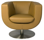 Leather lounge armchair Stock Image