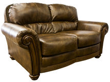 Leather Loveseat Sofa Stock Photos