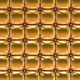 Leather. Luxurious gold leather texture upholstery Stock Photo