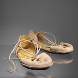 Leather luxury sandals. Leather sandals Royalty Free Stock Image