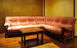 Leather luxury sofa Stock Photo