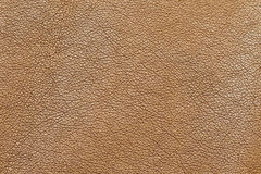 Leather. Macro photograph of synthetic leather jacket in brown color Royalty Free Stock Photo