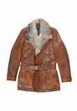 Leather male coat royalty free stock photo
