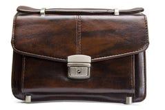 Leather man bag isolated. On white Stock Photo