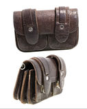 Leather man purse (isolated) Stock Photography