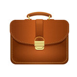 Leather Manager Briefcase, Isolated Image Stock Photography