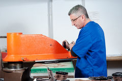 Leather manufacture Stock Photography