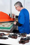 Leather manufacture Stock Photos