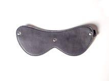 Leather Mask. Black leather mask on white background Royalty Free Stock Image