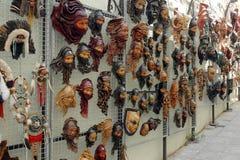 Leather masks souvenirs Stock Photos