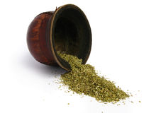 Leather Mate Cup and yerba Stock Photography