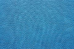 Leather material of blue color Royalty Free Stock Photos