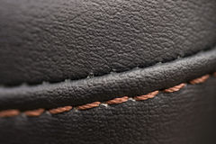 Leather material in modern car. Royalty Free Stock Image
