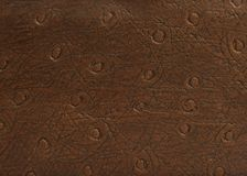 Leather Material Pattern and Texture Sample Royalty Free Stock Photos