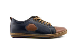 leather men s shoes 图库摄影