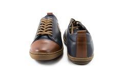 leather men s shoes 免版税库存照片