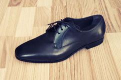 Leather men's shoes Royalty Free Stock Images