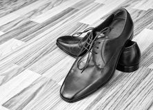 Leather men's shoes Royalty Free Stock Photography