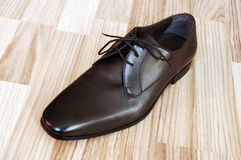 Leather men's shoes Stock Images