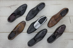 Leather men's shoes Royalty Free Stock Photo