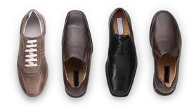 Leather men's shoes Stock Photo