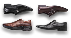 Leather men's shoes Stock Image