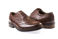 Leather men shoes Royalty Free Stock Image