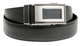 Leather mens belt Stock Photos