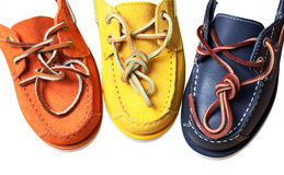 Leather moccasins Stock Photo