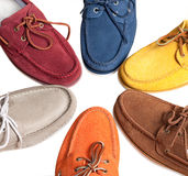 Leather moccasins Royalty Free Stock Image