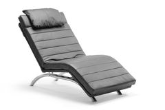 A leather modern chair royalty free stock photography