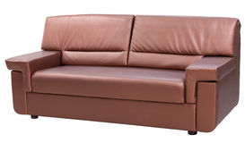 Leather modern couch Stock Images