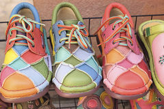 Leather moroccan shoes for sale Royalty Free Stock Photo