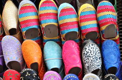 Leather moroccan slippers Royalty Free Stock Photography