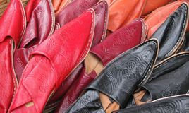Leather mules Stock Image