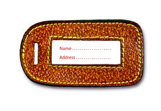 The Leather of name tag Royalty Free Stock Image