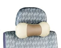 Leather neck pillow Royalty Free Stock Images