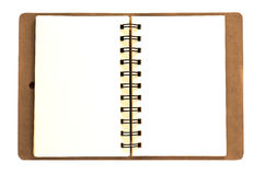 Leather note book Royalty Free Stock Photos
