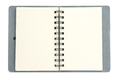 Leather note book. Note book, isolated object over white background Stock Image