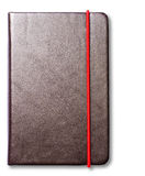 Leather note book. Isolate leather note book on white background royalty free stock photography
